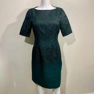 Worth New York Sheath Dress Green Ombre Holiday